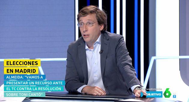 El alcalde de Madrid, José Luis Martínez-Almeida, en 'El