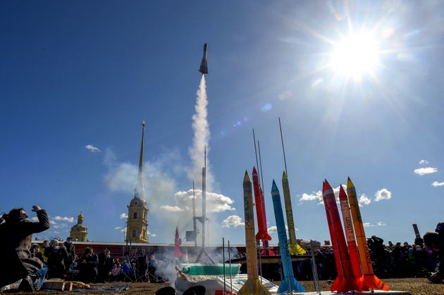 Iouri Gagarine, 60 ans après son mythique vol spatial est célébré par les...