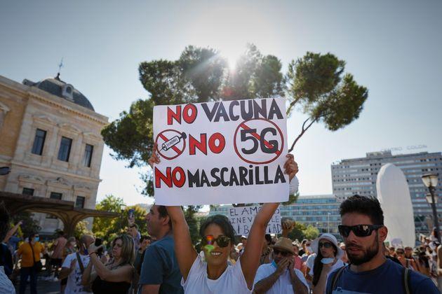 Manifestación de negacionistas en