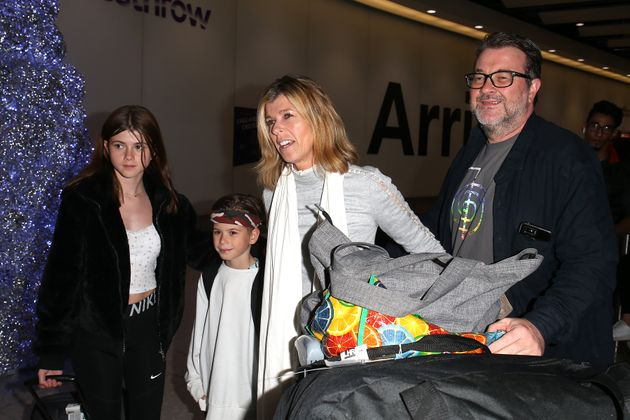 Kate Garraway with her husband Derek Draper, and children Darcey and