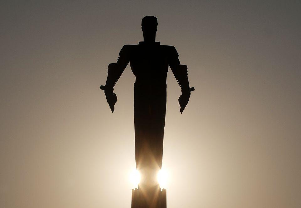 Άγαλμα του Γκαγκάριν...
