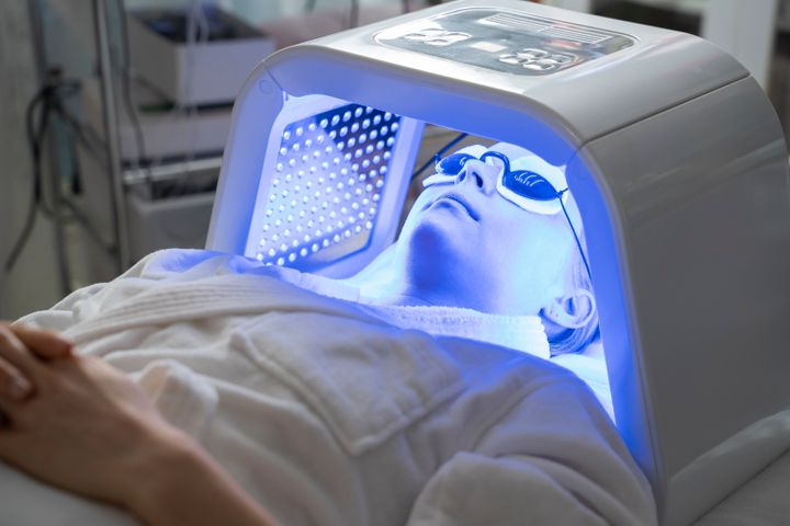 In-office LED mask treatments are larger and more powerful than most at-home LED devices.