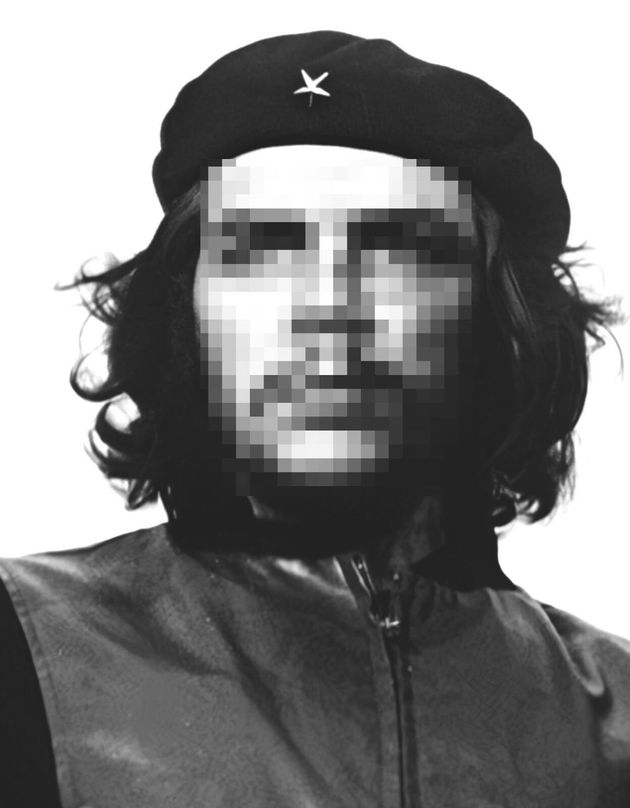 Che Guevara, con la cara