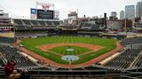 MINNEAPOLIS, MN - APRIL 12: A view of Target Field after a postponement was announced for the game between the Boston Red Sox and Minnesota Twins at Target Field on April 12, 2021 in Minneapolis, Minnesota. The game was postponed a day after a Brooklyn Center police officer shot and killed 20-year-old Daunte Wright during a traffic stop. (Photo by David Berding/Getty Images)
