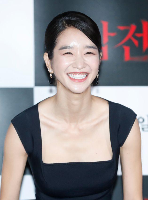 배우 서예지가 8일 오후 서울 용산CGV에서 열린 영화 '암전'(감독 김진원) 언론시사회에 참석해 환한 미소를 짓고