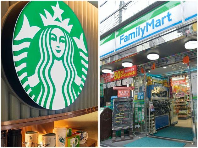スターバックスとファミリーマートの店舗