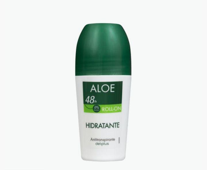 Desodorante roll-on cuidado aloe Deliplus 0% alcohol.