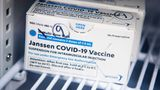UNITED STATES - APRIL 12: A box of Johnson & Johnson's Janssen COVID-19 vaccine doses are pictured at Grubb's Pharmacy on Capitol Hill on Monday, April 12, 2021. (Photo By Tom Williams/CQ-Roll Call, Inc via Getty Images)