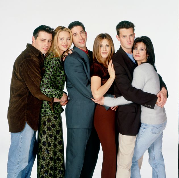 The cast of Friends pictured during the show's original