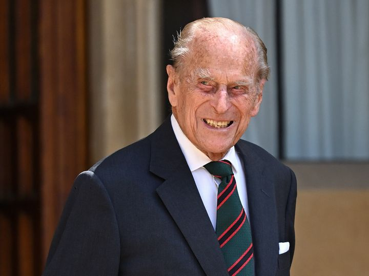 Prince Philip attends a ceremony to mark the transfer of the Colonel-in-Chief of The Rifles from him to Camilla, Duchess of C