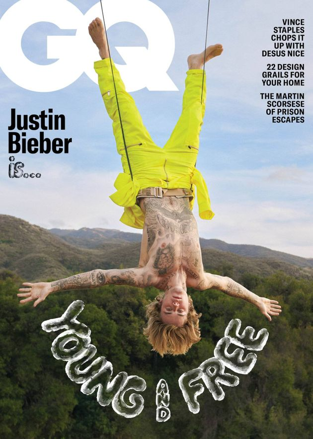 Justin Bieber on the cover of GQ magazine