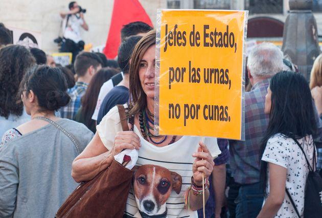 Imagen de archivo de una manifestación a favor de la