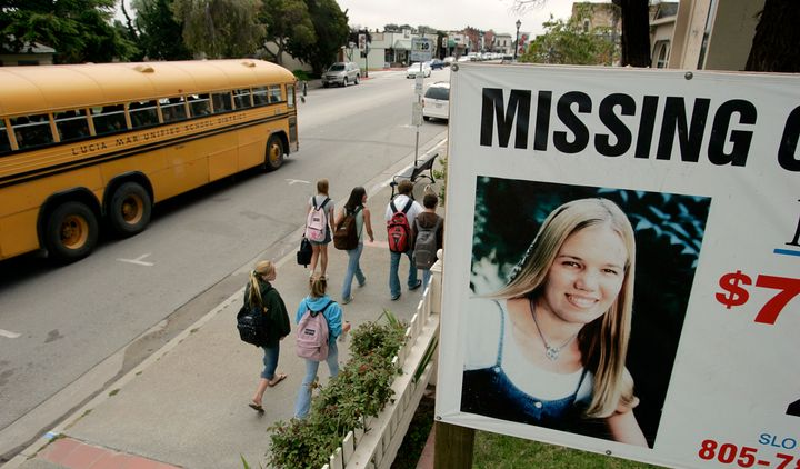 A missing poster for freshman college student Kristin Smart is seen. Smart was declared legally dead in 2002, despite the fac