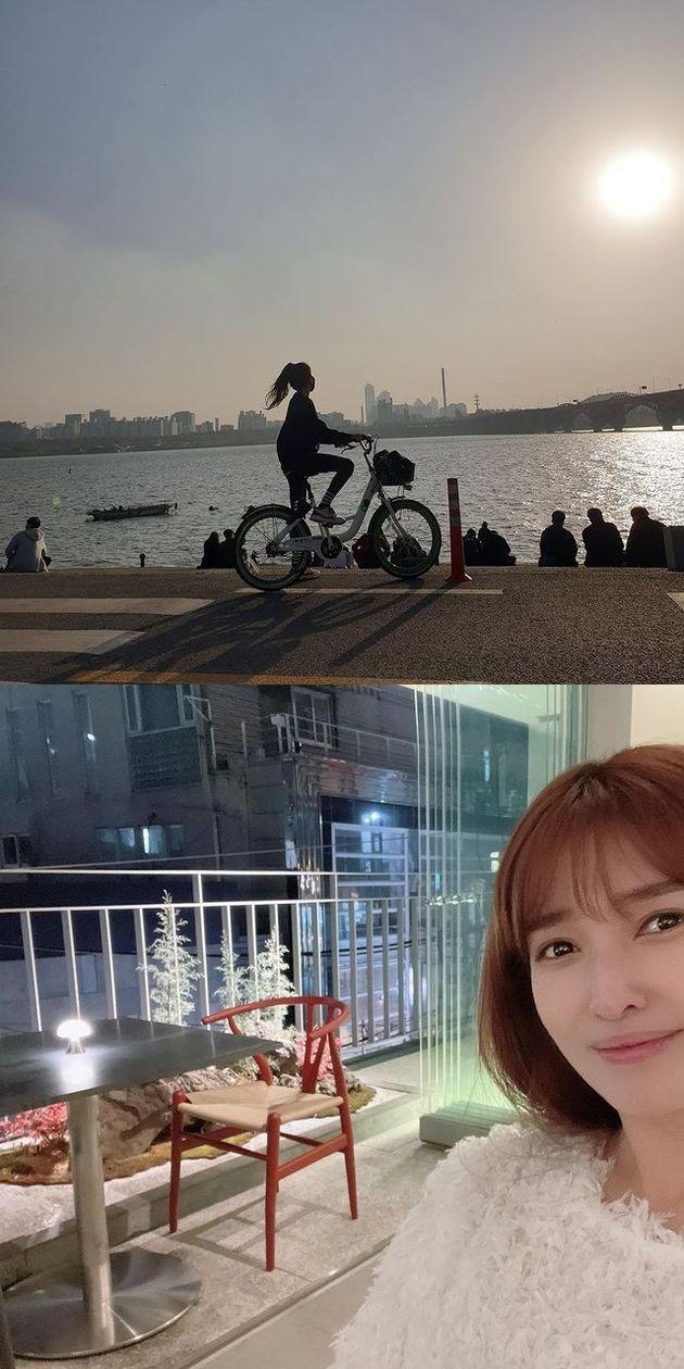 김경란이 '따릉이 타고 한강 가 와인 마시고 지하철 타고 집에 오는 것'이 요즘 취미라고 밝혔다