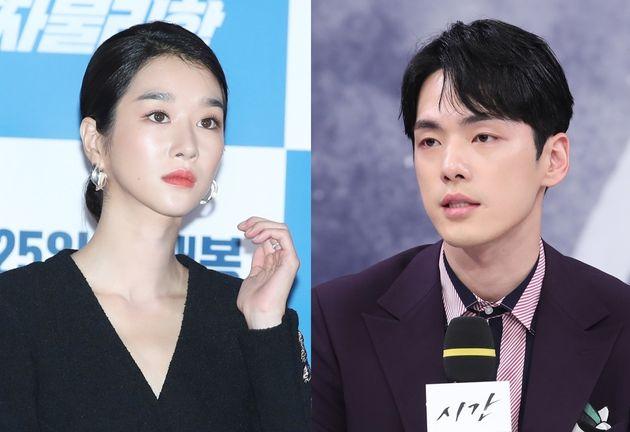 2019년 9월 11일 영화 '양자물리학' 언론 시사회에 참석한 서예지(왼쪽), 2018년 7월 20일 드라마 '시간' 제작발표회에 참석한