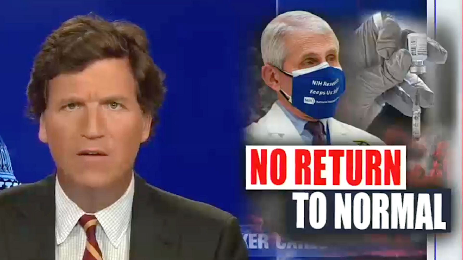 Tucker Carlson Suggests Vaccines Don't Work And Government Won't Say It