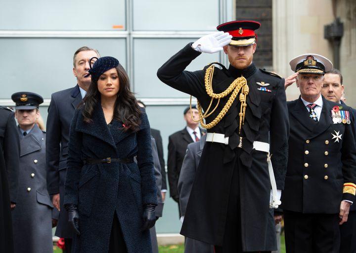 Harry, durante un acto con soldados y veteranos en recuerdo a los caídos.