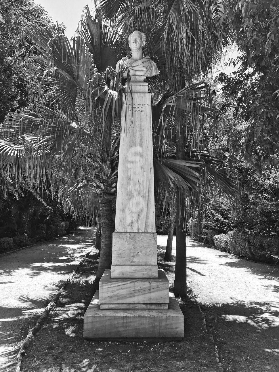 Ιωάννη Κόσσου,Ιωάννης Α. Καποδίστριας, 1866, μάρμαρο, Εθνικός Κήπος.