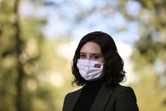 La presidenta de la Comunidad de Madrid, Isabel Díaz Ayuso, durante su visita al distrito de Tetuán,...