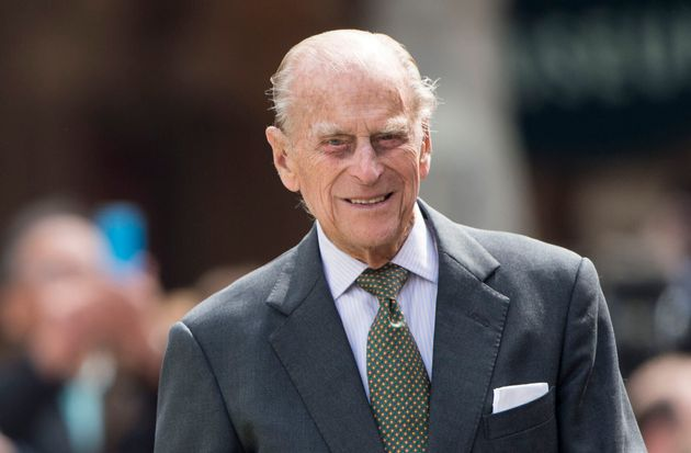 Prince Philip pictured on the Queen's 90th birthday in