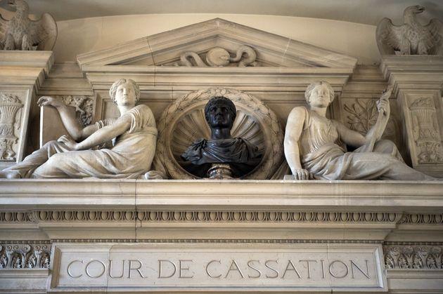 L'entrée de la Cour de Cassation le 16 juillet 2014, à