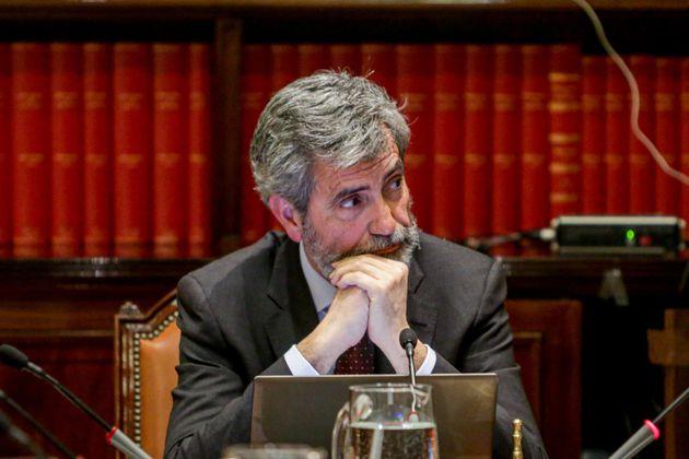 El presidente del Consejo General del Poder Judicial y del Tribunal Supremo (CGPJ), Carlos