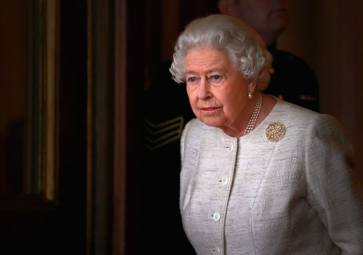 In this file photo, Queen Elizabeth II prepares to greet Kazakhstan President Nursultan Nazarbayev at Buckingham Palace on No