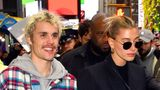 NEW YORK, NY - FEBRUARY 07:  Justin Bieber and Hailey Bieber are seen in Times Square on February 7, 2020 in New York City.  (Photo by Robert Kamau/GC Images)