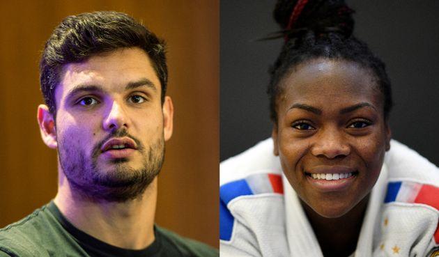 Les athlètes Florent Manaudou et Clarisse