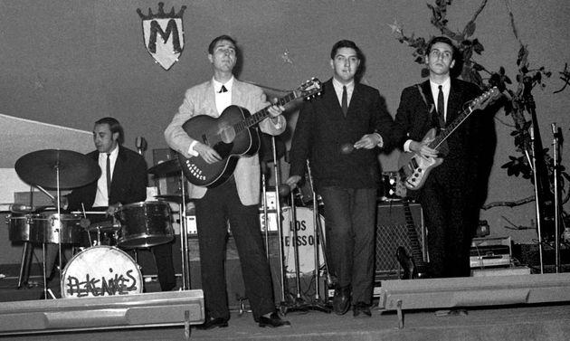El grupo musical Los Pekenikes, en una actuación en Madrid en