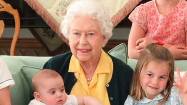 Royals Share Never-Before-Seen Photos Of The Queen And Philip With Great-Grandkids.jpg