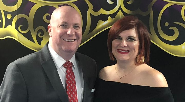 The author and her husband, Scott Thomas.