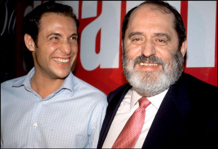 Antonio David con el que por aquel entonces era su abogado, Rodríguez Menéndez.