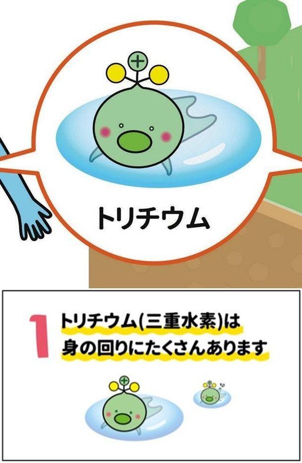 일본 부흥청이 후쿠시마 원전 방사성 오염수 방류를 결정하며 삼중수소를 캐릭터화해