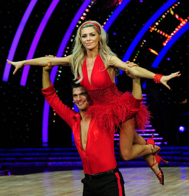 Abbey with partner Aljaž Škorjanecduring a press call for the Strictly Come Dancing Live