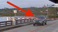 Florida Driver Busts Through Gates, Leaps Over Drawbridge As It Opens