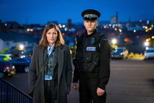 Gregory with co-star Kelly Macdonald, who plays DCI Jo Davidson