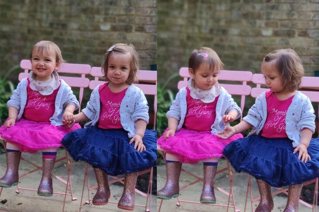 Laura Rana's 20-month-old twins