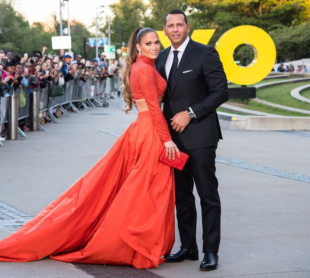 Jennifer Lopez and Alex Rodriguez pictured in