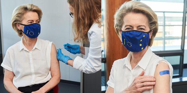 Vaccino Pfizer per Von der Leyen, domani Astrazeneca a Merkel
