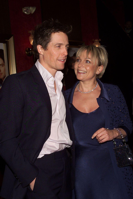 Actor Hugh Grant with Helen Fielding at the Bridget Jones's Diary film premiere in New York City in
