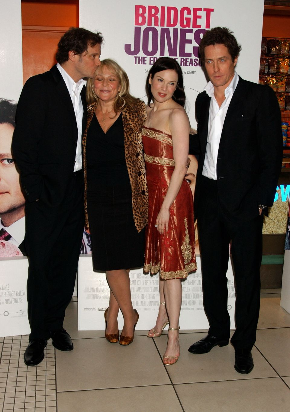 Colin Firth, writer Helen Fielding, actress Renee Zellweger and actor Hugh Grant arrive at the UK Gala...