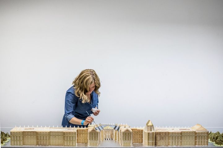 Emily Garland creating the Palace of Versailles
