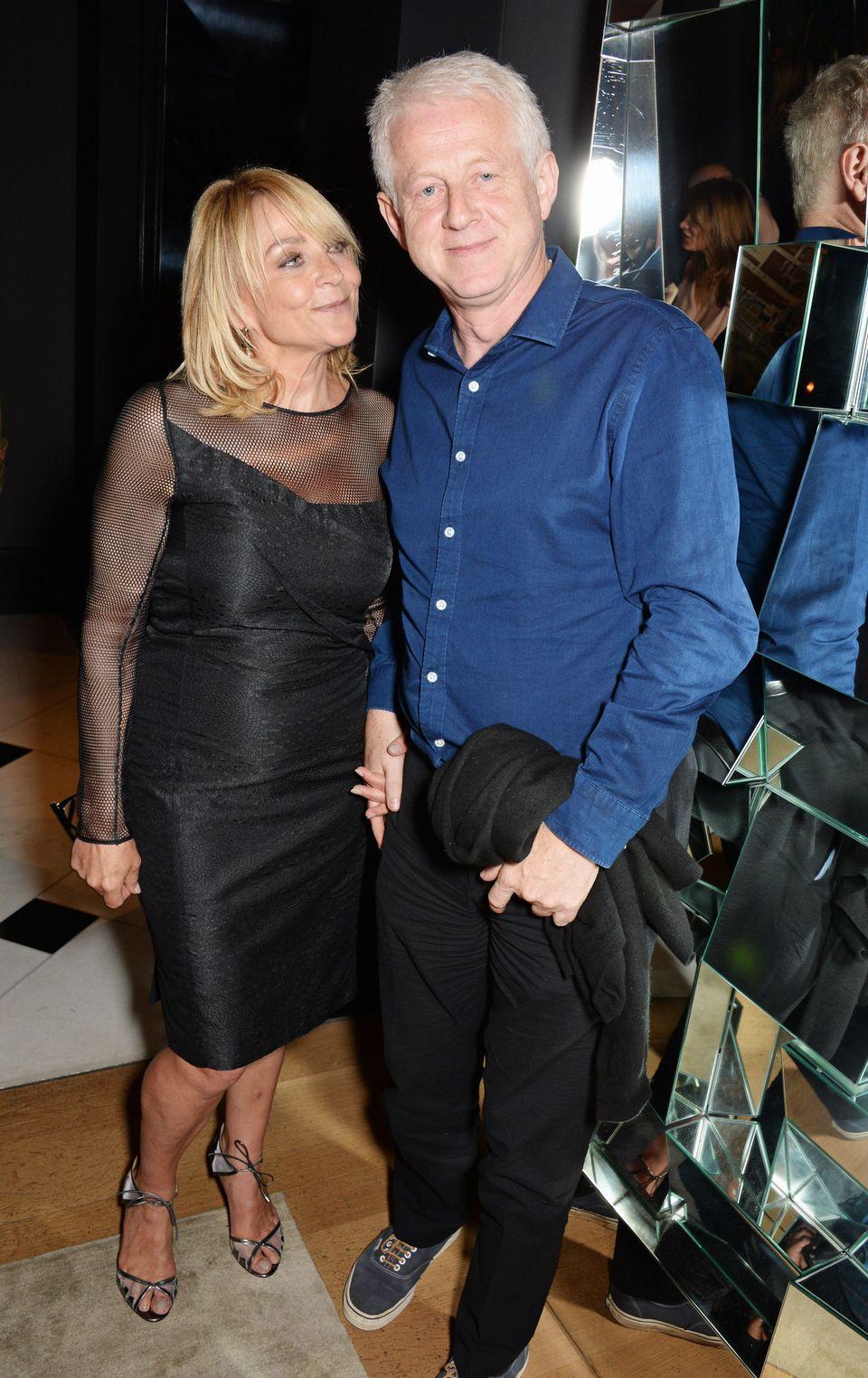 Helen Fielding and Richard