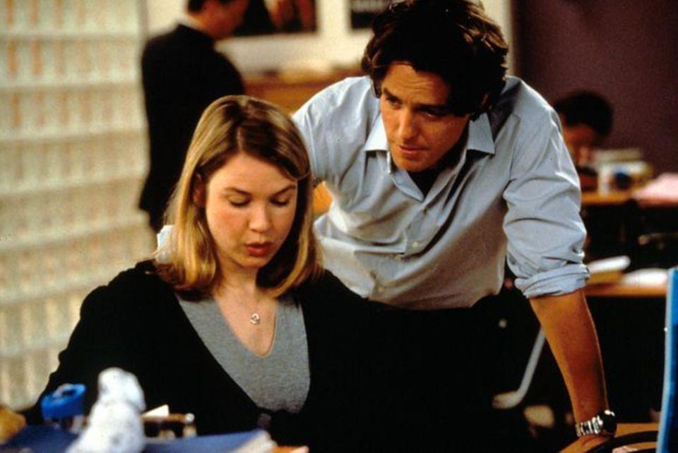 Renee Zellweger and Hugh Grant in Bridget Jones'
