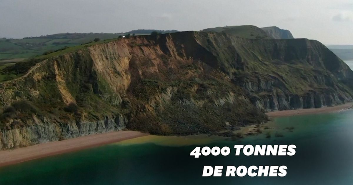 Glissement de terrain géant en Angleterre sur le littoral de la Manche