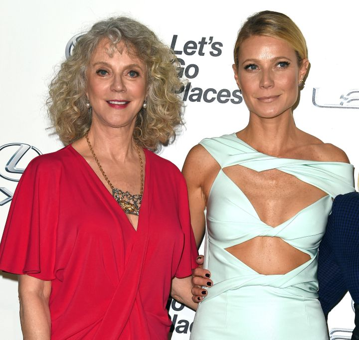 Blythe Danner and Gwyneth Paltrow arrive at the 25th Environmental Media Awards in 2015.