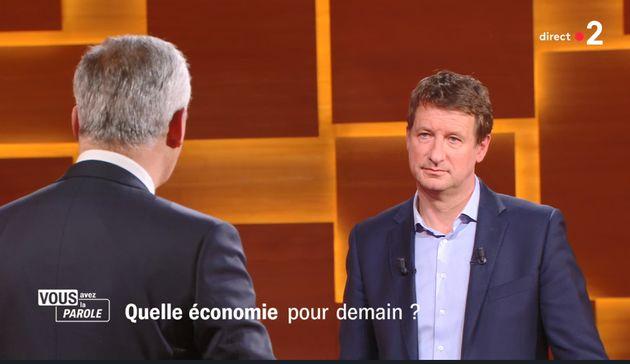 Yannick Jadot débattait avec Bruno Le Maire, le 15 avril, sur France