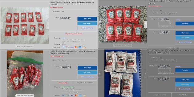 Face à la pénurie de Ketchup Heinz, des Américains revendent leurs sachets sur