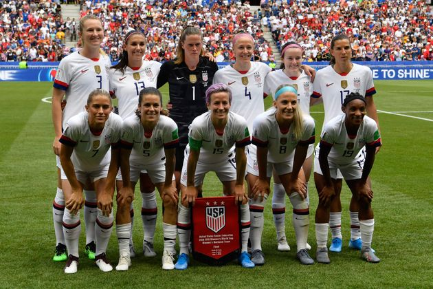 サッカーアメリカ合衆国女子代表ら=2019年07月07日